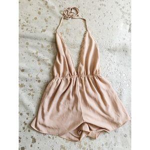 Peach Romper - Audrey - Size S / M